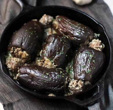 Eggplants stuffed with meat, baked in the oven: recipe