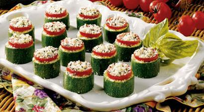 zucchini baked with cheese and tomatoes