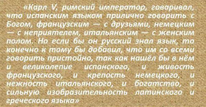 Sayings of great people about the Russian language, their strength and relevance