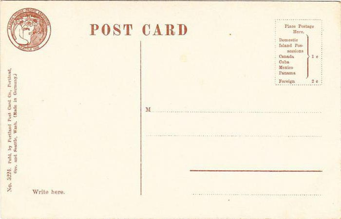 size of standard postcard